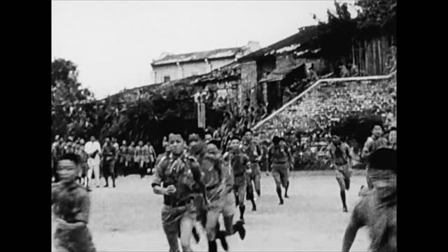 chinese civilians running to air raid shelters during japanese bombing of chungking - 1938 stock videos & royalty-free footage