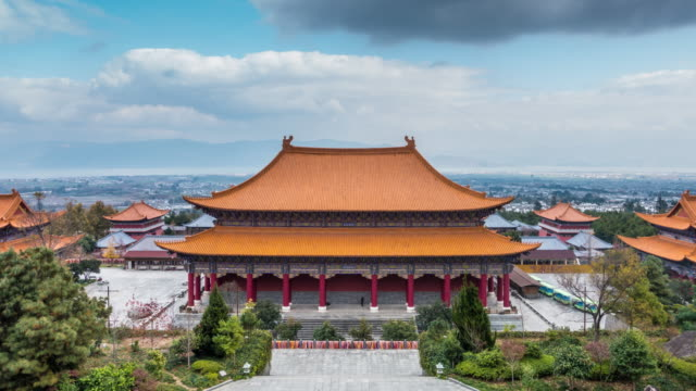 chinese classical architecture - temple building stock videos & royalty-free footage