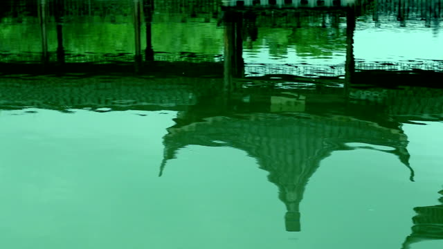 chinese classical garden in water reflection - classical chinese garden stock videos & royalty-free footage
