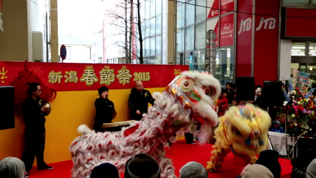 vídeos de stock, filmes e b-roll de chinese consulate general here hosted a for the first time a festival on february 14 to celebrate chinese new year five days ahead of their real new... - dia do ano novo