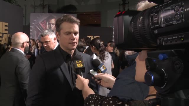 Chinese director Zhang Yimou's latest film The Great Wall premieres at the TLC Chinese Theatre in Hollywood with key actors including Matt Damon...