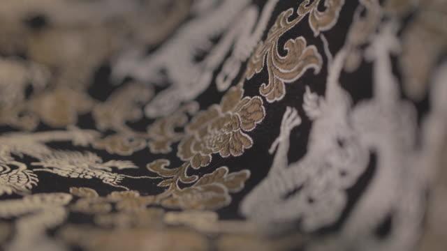 vídeos y material grabado en eventos de stock de tela china - dragon chino