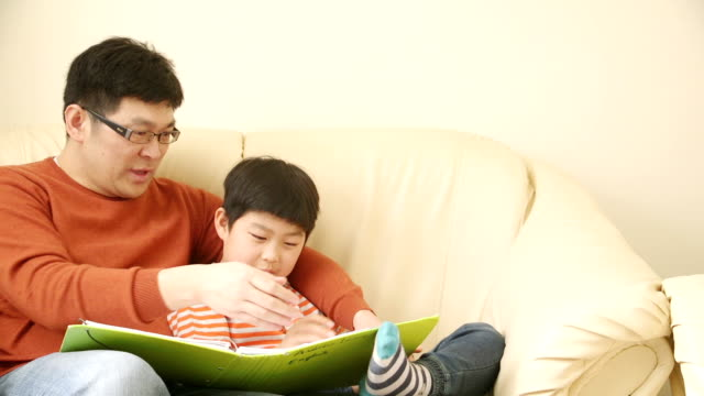 Chinese Father Helping Son Study!