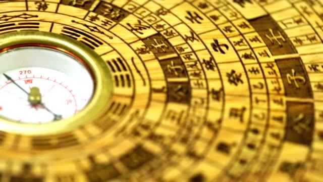 chinesischen fengshui-kompass - kompass stock-videos und b-roll-filmmaterial