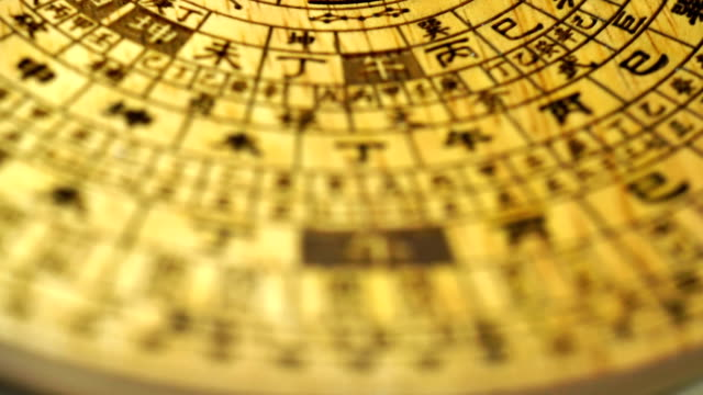 chinese fengshui compass - chinese script stock videos & royalty-free footage