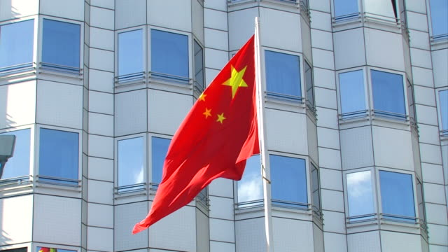 chinese flag + close up - chinese flag stock videos & royalty-free footage