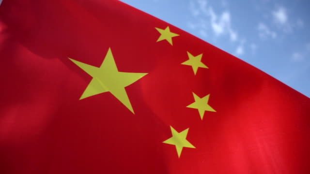 chinese flag high detail - national flag stock videos & royalty-free footage