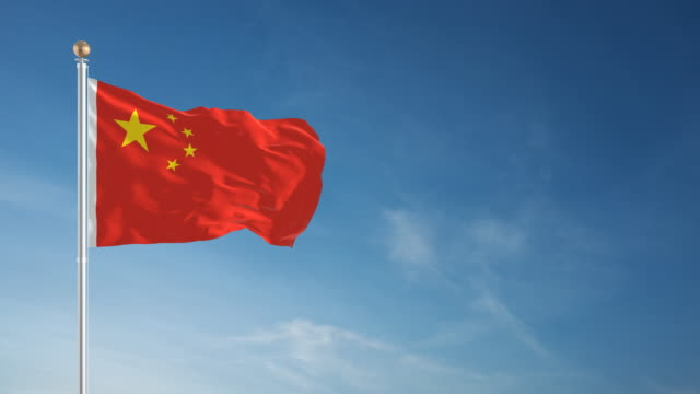 4k chinese flag - loopable - chinese flag stock videos and b-roll footage
