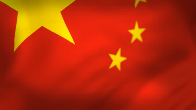 chinese flag perfect loop - chinese flag stock videos & royalty-free footage