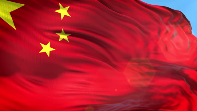 Chinese Flag - Slow Motion - 4K Resolution
