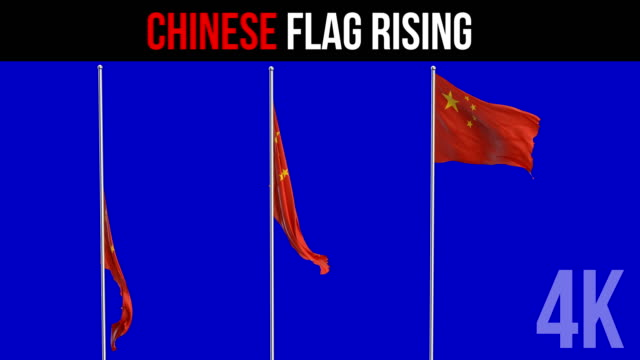 chinese flag - chinese flag stock videos and b-roll footage