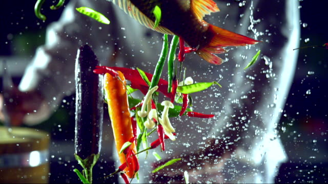 chinese food, video montage - pepper vegetable stock videos & royalty-free footage