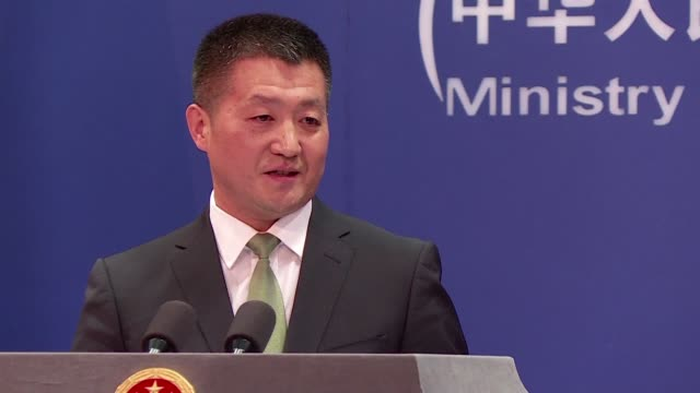 Chinese Foreign Affairs spokesperson Lu Kang gives a press conference in Beijing saying that a study released by a human rights watchdog reporting...