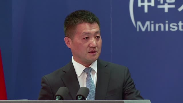 Chinese foreign ministry spokesman Lu Kang says China hopes US can change its course to promote healthy and stable China US relations during US...