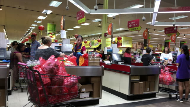 chinese grocery shopping - checkout stock videos & royalty-free footage