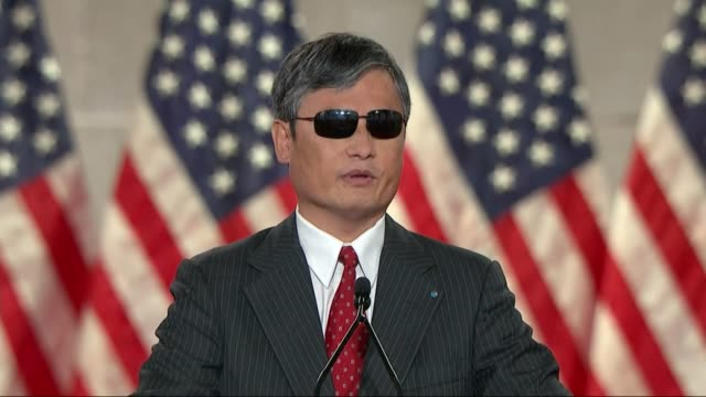 chinese human rights activist chen guangcheng says in remarks to the 2020 republican national convention that the chinese communist party was an... - unfairness stock videos & royalty-free footage