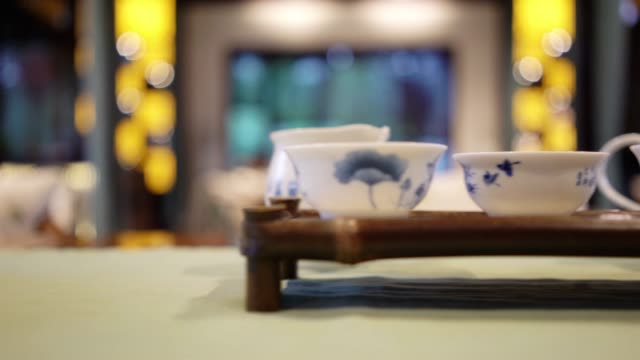 chinese kungfu tea - chinese tea pot stock videos and b-roll footage