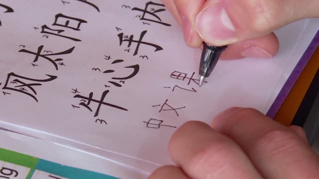vídeos de stock, filmes e b-roll de chinese language and culture are becoming increasingly important in the small central european country of luxembourg with a number sof econdary... - idioma