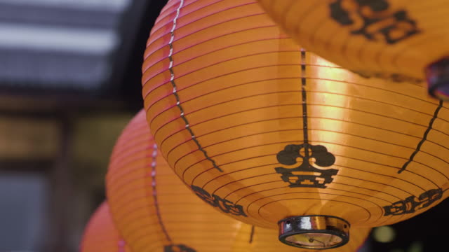 chinese lantern chinese new year - paper lantern stock videos and b-roll footage