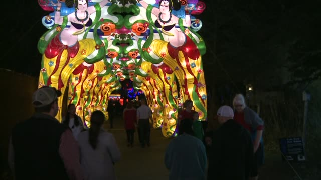 Chinese Lantern Festival celebrates the Chinese New Year with artwork displays Chinese lanterns stained glass and Dragon boats on February 16 2014 in...
