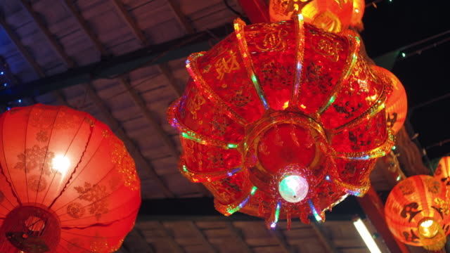 chinese lantern in chinese new year festival - nanjing stock videos & royalty-free footage