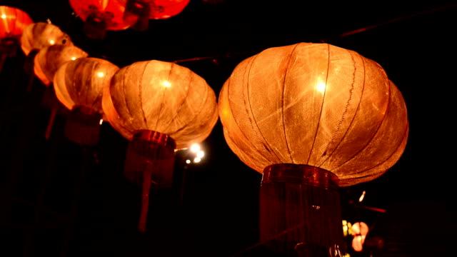 chinesische laterne silvester nächte festival - chinesisches laternenfest stock-videos und b-roll-filmmaterial