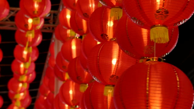 chinese lantern red color - china east asia stock videos & royalty-free footage