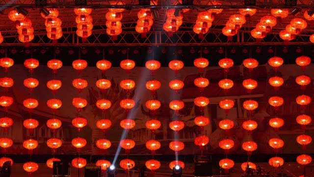 chinese lantern stage - paper lantern stock videos and b-roll footage