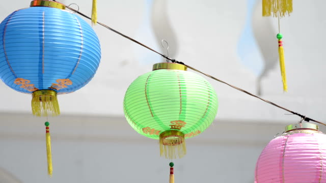 chinese lantern - chinese script stock videos & royalty-free footage