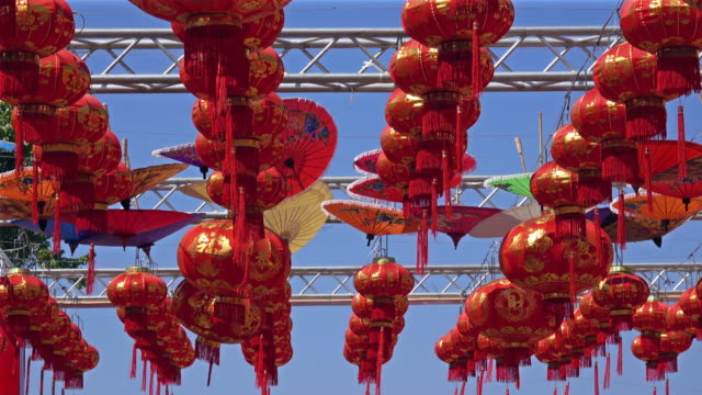 chinese lantern - chinese lantern festival stock videos and b-roll footage