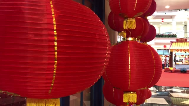 chinese lantern,for celebrate chinese new year, chinese red lantern,for celebrate spring festival - luck stock videos & royalty-free footage