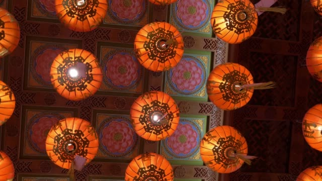 chinese lantern,for celebrate chinese new year - east asian culture stock videos & royalty-free footage
