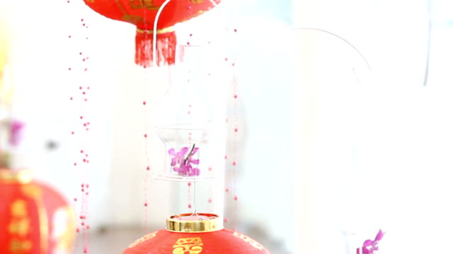 chinese lanterns and chinese new year - lamp shade stock videos & royalty-free footage