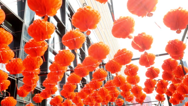 chinese lanterns during new year festival - lantern stock videos & royalty-free footage