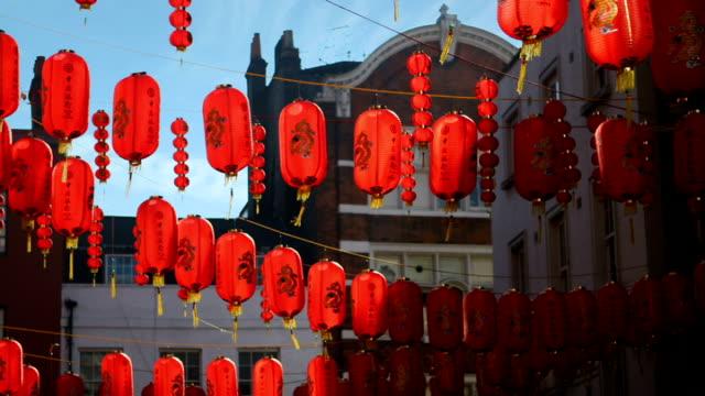 chinese lanterns - chinatown stock videos & royalty-free footage