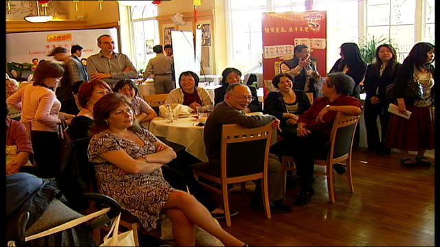 chinese masterchef competition run by westminster council; people sitting in chinese restaurant - masterchef stock videos & royalty-free footage