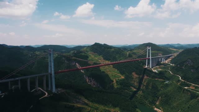 chinese modern cable-stayed bridge - cable stayed bridge stock videos & royalty-free footage