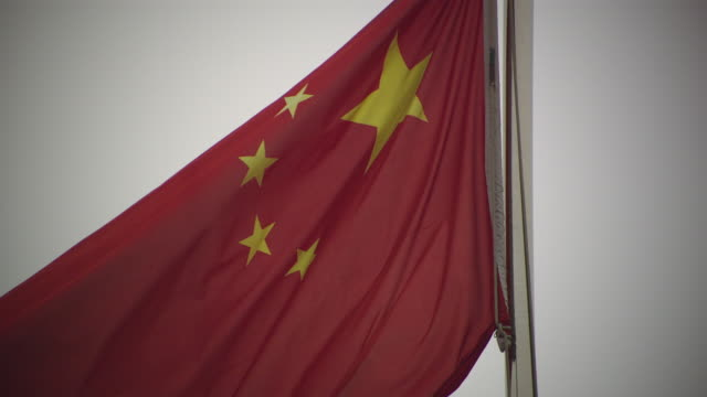 chinese national flag - chinese flag stock videos & royalty-free footage