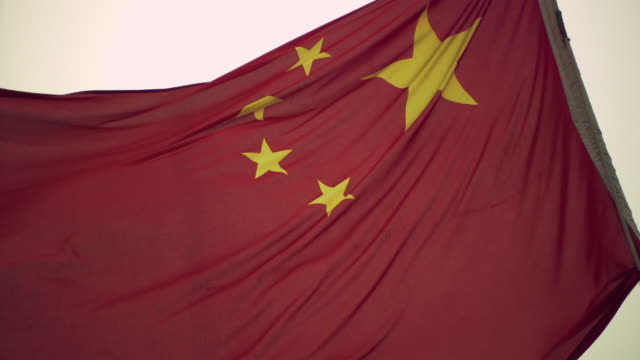 chinese national flag - chinese flag stock videos and b-roll footage