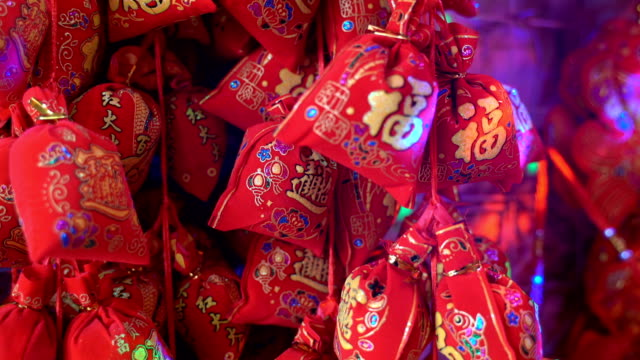 chinese new year auspicious pendant - pendant stock videos & royalty-free footage