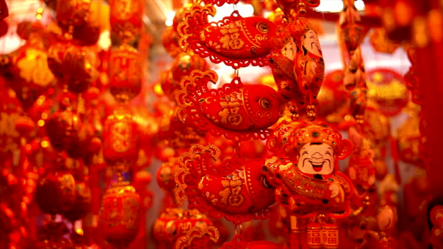 chinese new year auspicious pendant - hanging stock videos & royalty-free footage