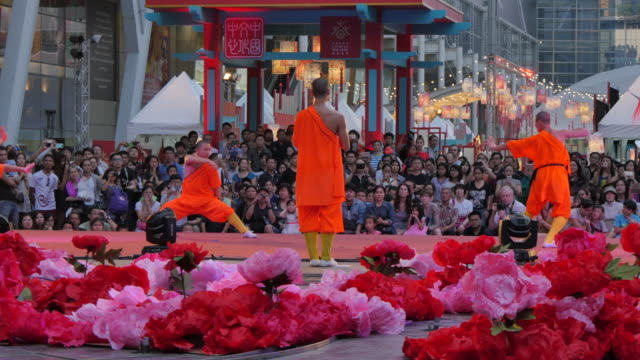 chinese new year celebrations at central world, bangkok, thailand, southeast asia, asia - south east asian ethnicity stock videos and b-roll footage