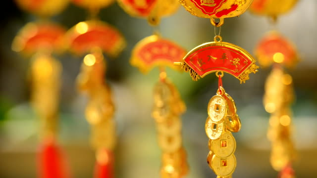 chinese new year decoration - still life stock videos and b-roll footage