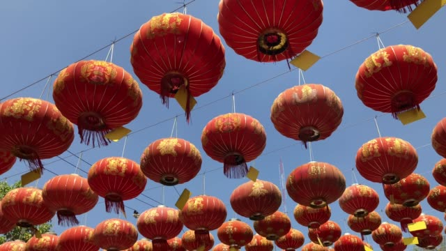 chinese new year lantern - chinese lantern festival stock videos and b-roll footage