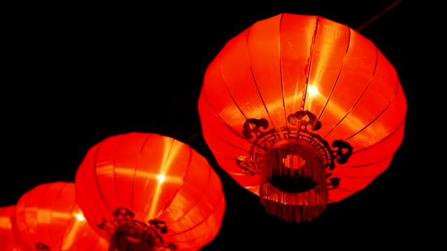 chinese new year night festival - chinese lantern festival stock videos and b-roll footage