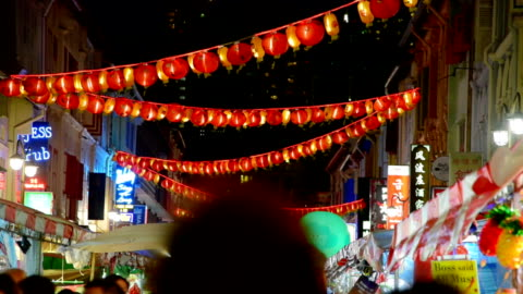 2018 chinese new years in singapore china town and traveller enjoy traviling - chinatown stock videos & royalty-free footage