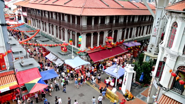 Chinese new years in Singapore China Town and traveller enjoy traviling