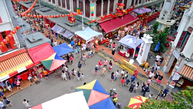 2018 Chinese new years in Singapore China Town and traveller enjoy traviling
