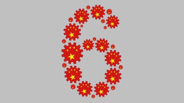 stockvideo's en b-roll-footage met chinees nummer zes - getal 6