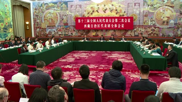 vídeos y material grabado en eventos de stock de chinese officials insist that there is no widespread support for the dalai lama in tibet and ordinary people are grateful to the communist party for... - lama